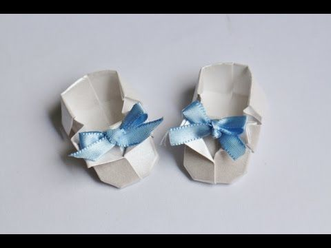 Origami Tutorial: Sapatinho de Bebê | Baby Shoes - YouTube