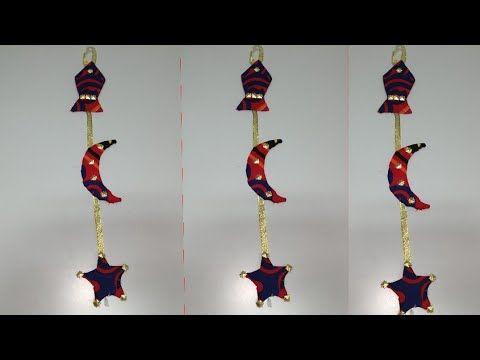 زينة رمضان علي شكل هلال وفانوس و نجمه بقماش الخيامية بطريقة سهلة و بسيطة Youtube Baby Mobile
