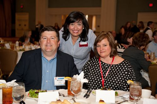 Michael and Libbi Jaillet (L and R) with Texas Chapter employee Bonnie Walsh. Michael was an honoree at The Association's Heroes Living with ALS Luncheon; he works closely with the Texas Chapter. Image courtesy of Sandy Marak Photography.