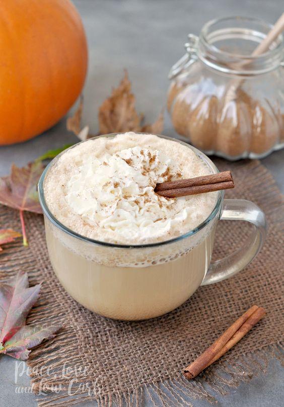 Low Carb Pumpkin Spice Latte -low carb/low carb  snacks/keto treats/ keto halloween/keto treats for halloween/low carb dessert/ keto snacks/keto dessert for halloween/keto recipes for halloween/Easy keto recipes/keto chocolate/halloween food/creepy halloween food/spooky treats/halloween party food/halloween party ideas/