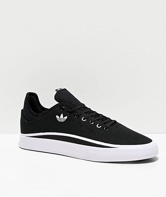 adidas Sabalo Black & White Canvas Shoes | White canvas