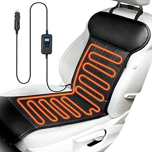 Eluto Heated Seat Cushion For Car Seat Heater Universal 12v Car
