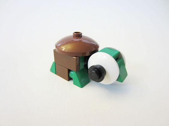 CUTE!!! LEGO Turtle #LEGO #animal #turtle