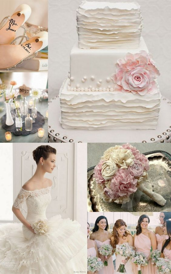 Beautiful rosette + ruffle cake: