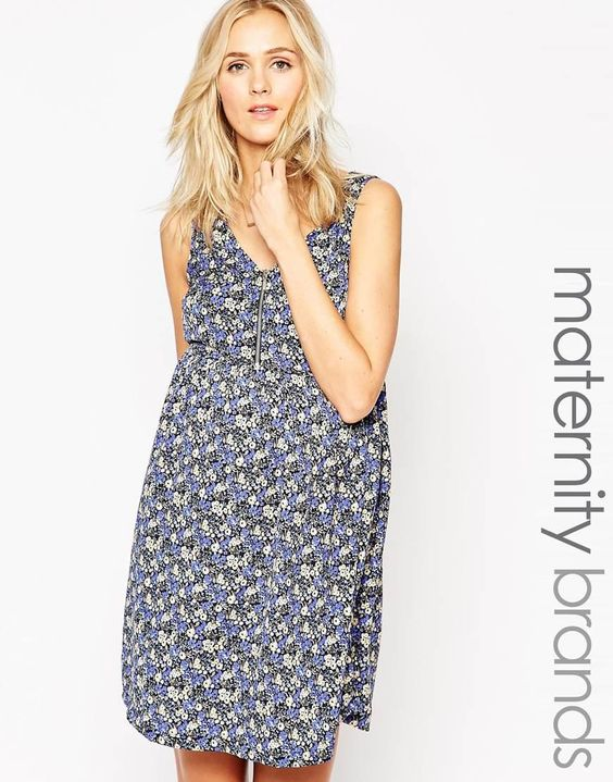 New Look Maternity   New Look Maternity Skater Dress With Zip at ASOS
