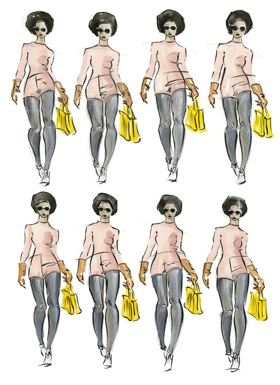 Victoria-Riza Fashion Illustrator | Max Mara Fall 2016 RTW