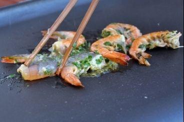 Gambas à la plancha façon thaïe, les recettes de nos chefs
