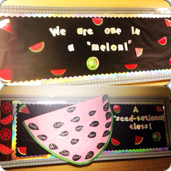Back to school watermelon inspired bulletin board!