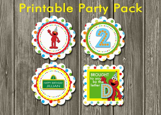 Elmo Printable Party Pack by DazzleExpressions on Etsy, $12.00