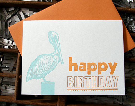 Pelican birthday card