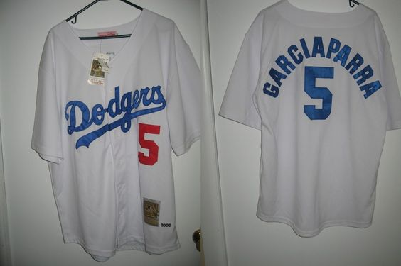 NWT Nomar Garciaparra Los Angeles Dodgers men's size 52 jersey Mitchell Ness #MitchellNess #LosAngelesDodgers