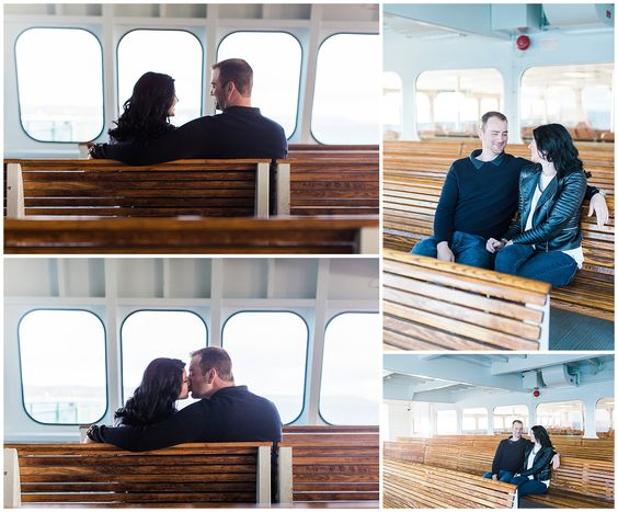 Mukilteo Lighthouse and Ferry Engagement Session - Eva Rieb Photography