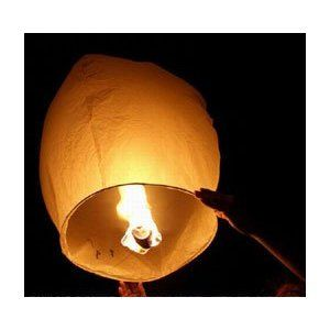 Sky lanterns for Christmas or New years eve