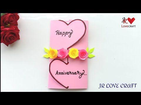 Beautiful Handmade Anniversary Card Idea Diy Greeting Cards For Anniversary Y Anniversary Cards Handmade Anniversary Greeting Cards Happy Anniversary Cards