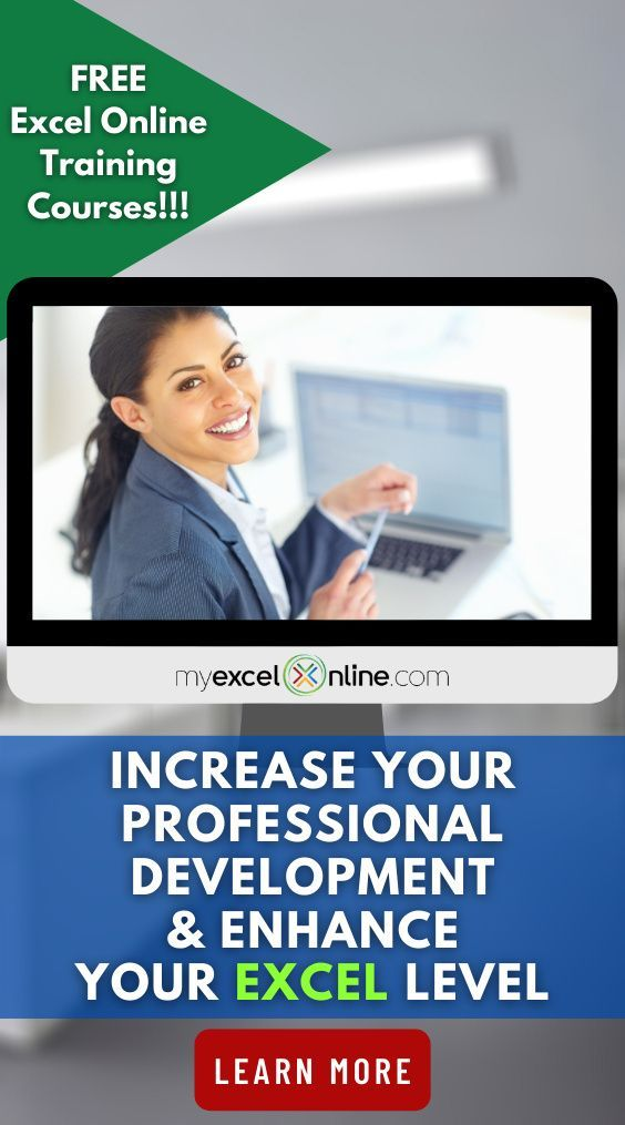 Microsoft Excel Training Free Excel Online Training Courses Myexcelonline Excel For Beginners Online Training Courses Excel Tutorials