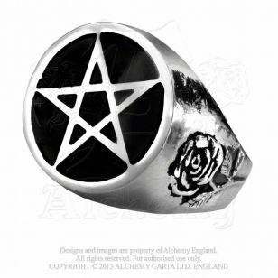 Bague Roseus Pentagram Gothique Alchemy http://rebelleetlabete.com/bagues/62-bague-roseus-pentagram-gothique.html