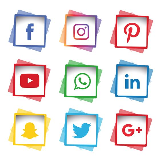 Social Media Icon Set Network Share Business App Like Web Sign Digital Technology Collection Lin Media Icon Social Media Logos Social Media Icons