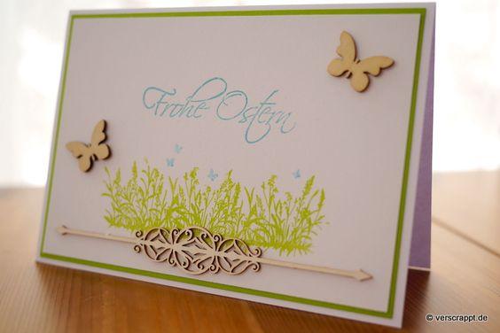 Osterkarte-Ostern-Karte-Osterwiese-Wiese-Ornament-hell-Schmetterlinge-weiß-Holz-Holztteil-Streudeko-gelasertes-Chipboard-Scrapiniec-grün-filigran-pastell-Frohe-Ostern-Stempel-Gruß-Klappkarte-Beitragsbild