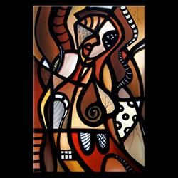 Art: Pop 374 2436 Original Abstract Pop Art Cry Me A River by Artist Thomas C. Fedro