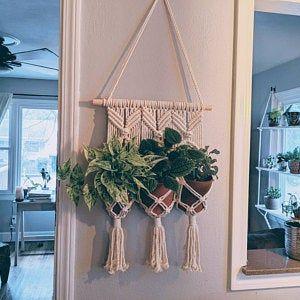 Jute Macrame Plant Hangers Hanging Wall