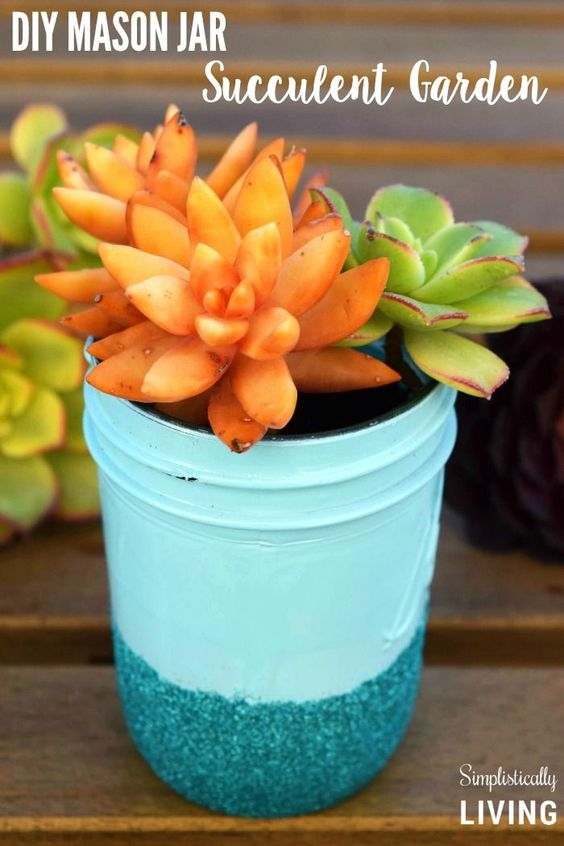 DIY Mason Jar Succulent Garden Simplistically Living