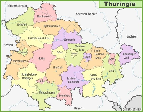 Administrative divisions map of Brandenburg Maps Pinterest
