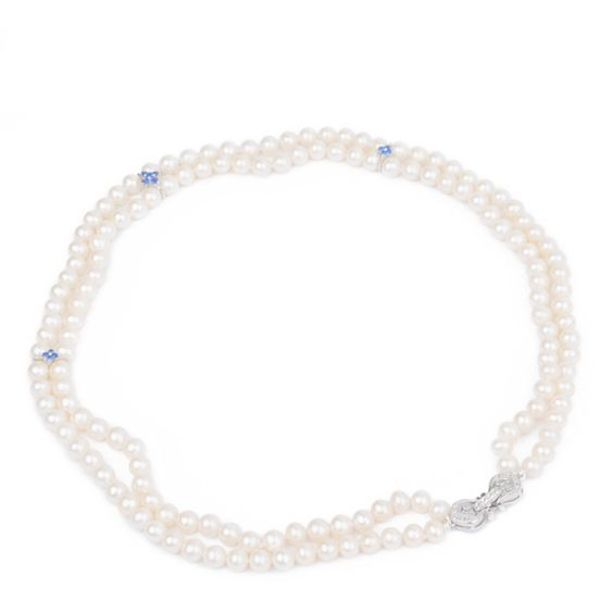 Graceful Freshwater Two Strand Pearl Necklace
