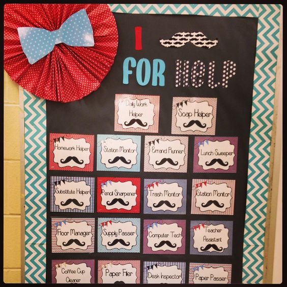 Mustache Classroom Decor ~ My mustache theme classroom own creations