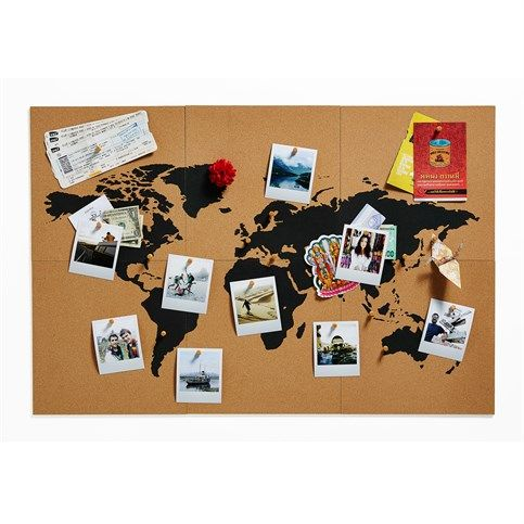 Voyage and fils on pinterest - Carte du monde deco ...