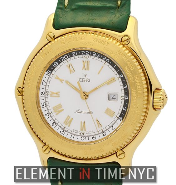 Ebel Voyager World Time GMT 18k Yellow Gold 38mm 8124913