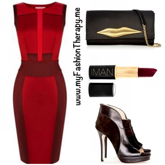 The Tree Topper   Dress: Karen Millen  Shoes: Jerome C. Rousseau  Bag: Diane Von Furstenberg or Mini Version  Lipstick: IMAN Cosmetics