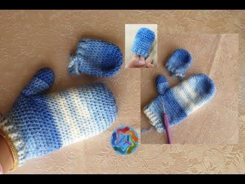 طريقة عمل جوانتي كروشيه مقفول باي مقاس بيبي أطفال كبار بطريقة سهله Croc Fingerless Arm Warmers Fingerless Gloves