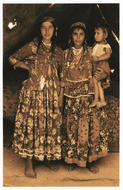 Transylvanian Romani costume, with Rajasthani influence: