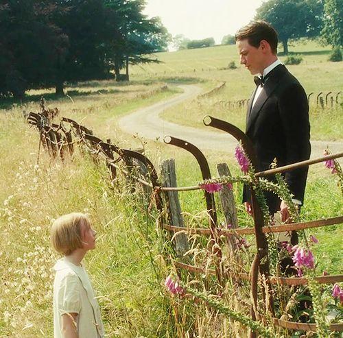 Saoirse Ronan (Briony Tallis, aged 13) & James McAvoy (Robbie Turner) - Atonement (2007) #joewright #ianmcewan: