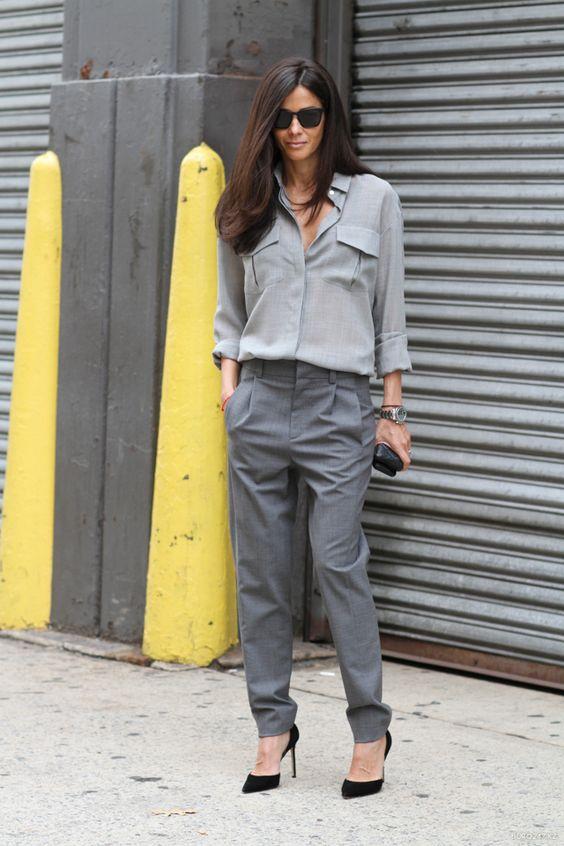 go for grey. Babs in NYC. #BarbaraMartelo