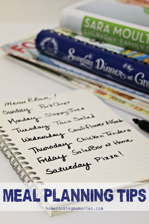 Meal planning tips meal planning meals and tips