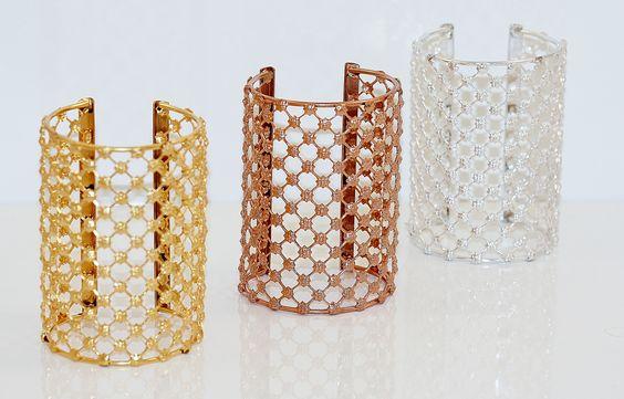 """Manchette """"La Parisienne"""" www.tania-z-creations;com"""