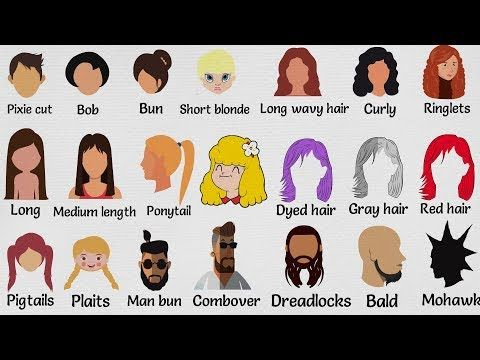Hairstyle Vocabulary In English Getting A Haircut 7esl Hairstyle Names Names Of Haircuts Men Hairstyle Names
