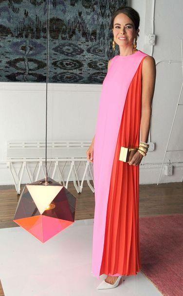 Festive Attire - Week of April 22, 2013:  WHO: Allison Sarofim WHAT: Christian Dior by Raf Simons WHERE: Art Production Fund Gala, New York City WHEN: April 15, 2013