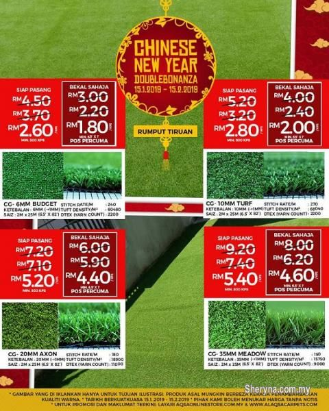 Other For Sale Rm2 In Klang Selangor Malaysia Chinese New Year Duoble Bonanza Promo For Grass Carpet Do You Want To Ke With Images Grass Carpet Artificial Grass Carpet