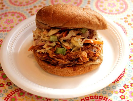 Slow cooker bbq chicken sandwiches-Lake Lure Cottage Kitchen. So good and easy!
