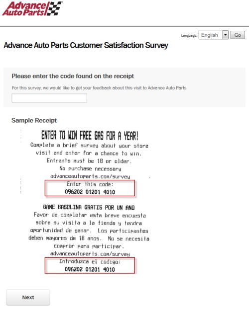 Advance Auto Parts Customer Satisfaction Survey, www - sample customer satisfaction survey