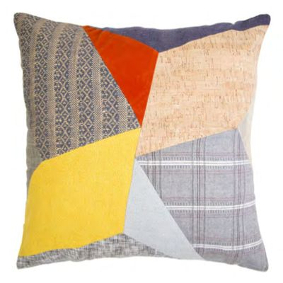 Megan Park Kaleidoscope Patched Cushion