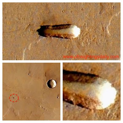 UFO SIGHTINGS DAILY: Ancient Structure On Mars, Found Using Google Earth, June 2013.: