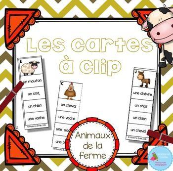 Voici un ensemble de 16 cartes  clip sur le vocabulaire des animaux de la ferme…