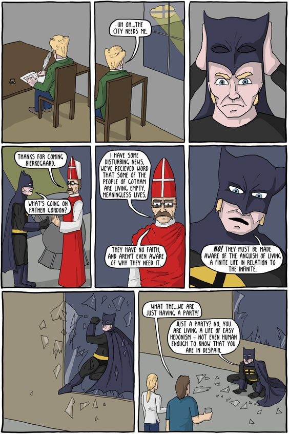 The Dark Knight of Faith - Existential Comics