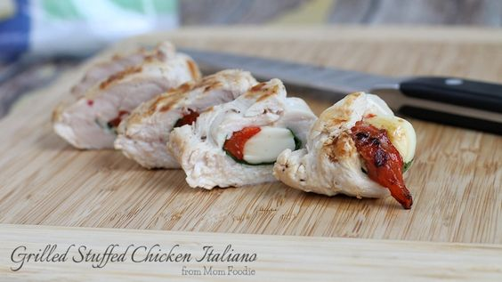 Grilled Stuffed Chicken Italiano Recipe, Made this last Night it was AWSOME. Substituted Walden Farms Calorie free Balsamic Dressing for the Italian, Added Lawrys season salt to outside and chopped garlic. Super tasting and Low Calories!!