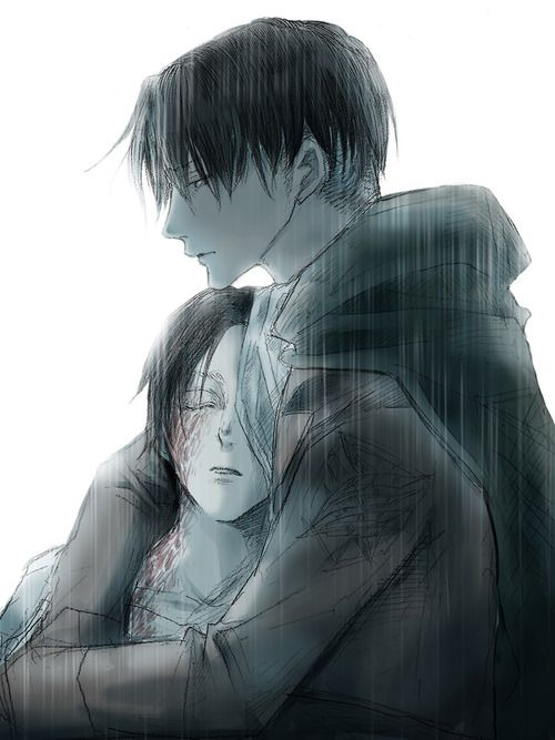 Levi and Eren    http://www.pixiv.com/users/3670922 [please do not remove this caption with the source]: