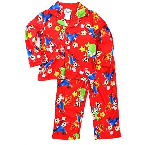 Super Mario Galaxy Boys Red Flannel Pajamas (8) @ niftywarehouse ...