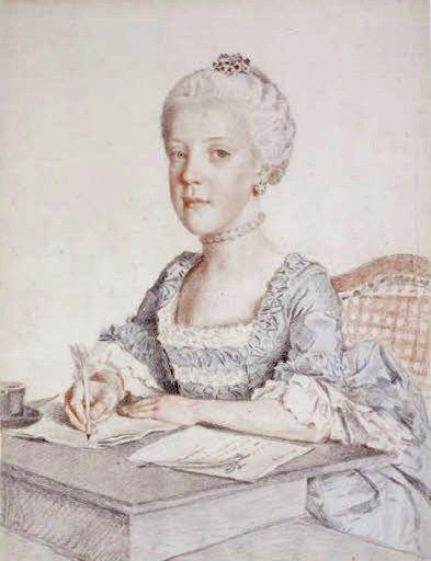 Jean-Etienne Liotard (Swiss-French artist, 1702-1789) Maria Johanna, archiduchesse d'Autriche (1750-1762) 1762